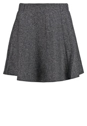 Only Onlziggi Mini Skirt Dark Grey Melange Mottled Dark Grey