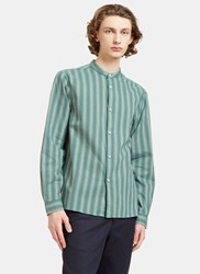 Acne Studios Pine Ombre Mini Checked Shirt Green