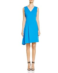 T Tahari Jenson Asymmetric Pleat Dress Bora Bora