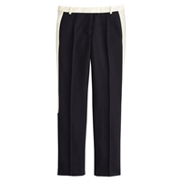 J.Crew Petite Collection Cropped Tuxedo Pant Navy