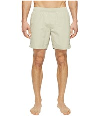 The North Face Class V Pull On Trunk Granite Bluff Tan Men's Swimwear White