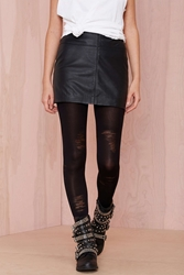 Nasty Gal Let's Shred Tights Black