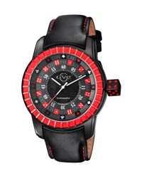 Gv2 48Mm Men's Lucky 7 Stainless Steel Watch Black