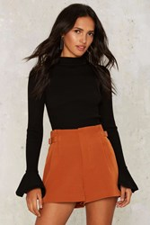 Diane High Waisted Shorts Orange