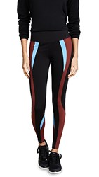 Splits59 Force Workout Leggings Black Auburn Power Blue