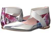 Ted Baker Cencae Blushing Bouquet Mirror Metallic Pu Women's Flat Shoes Silver