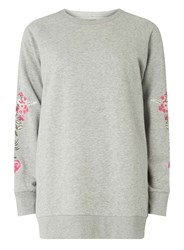 Dorothy Perkins Only Grey Embroidered Sweatshirt