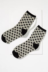 Becksondergaard Dory Gingham Socks Black And White