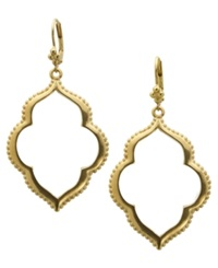 T Tahari Earrings 14K Gold Plated Drop Earrings