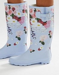 Asos Garden Floral Wellies Multi