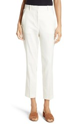 Theory Women's Lenoria Stretch Linen Blend Crop Pants Shell White