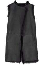 Theory Shearling Gilet Charcoal