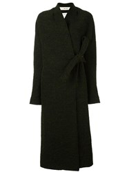 Damir Doma 'Cile' Wrap Coat Black