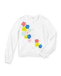 Kate Spade Faye Floral Embroidered Cotton Cardigan Fresh White