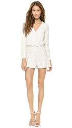 Line And Dot Kirsten Sequin Romper White