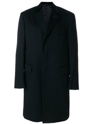 Tom Ford Classic Single Breasted Coat Cupro Cashmere Black