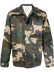 Zadig And Voltaire Kido Camouflage Jacket Multicolour