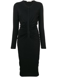 Roberto Cavalli Fitted Midi Dress Black