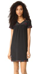 Madewell Embroidered Peasant Dress Classic Black