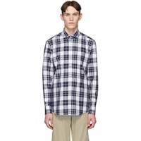 Boss White And Navy Check Jason Shirt