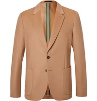 Paul Smith Brown Slim Fit Wool And Cashmere Blend Blazer Camel
