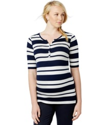 A Pea In The Pod Pod Maternity Striped Henley T Shirt
