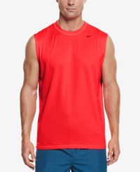 Nike Men's Hydro Performance Upf 40 Swim Shirt Bright Crimson