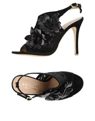 Twin Set Simona Barbieri Footwear Sandals Women Black