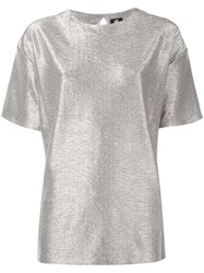 Paul Smith Ps By Metallic Grey T Shirt
