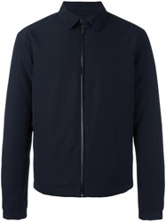 Z Zegna Zipped Shirt Jacket Blue