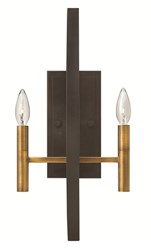 Hinkley Euclid Wall Sconce 3460Sb Spanish Bronze Brown
