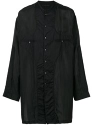 The Viridi Anne Oversized Striped Shirt Black