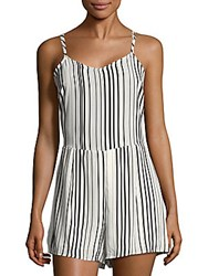 Collective Concepts Striped Short Jumpsuit