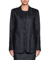 Giorgio Armani Denim Two Button Jacket Indigo Blue