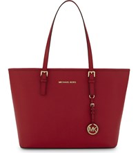 Michael Michael Kors Jet Set Travel Saffiano Leather Tote Bright Red