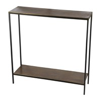 Amara Thin Top Console Table With Base Antique Brass