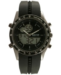 Kenneth Cole New York Men's Analog Digital Black Silicone Strap Watch 45X53mm 10030989