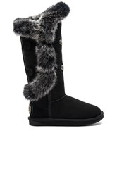 Australia Luxe Collective Nordic Angel X Tall Rabbit Fur And Shearling Boot Black