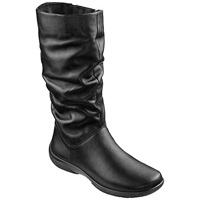 Hotter Mystery Mid Calf Boots Extra Wide Fit Black