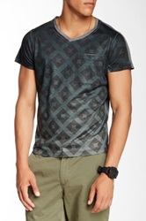 Go Couture V Neck Diamond In A Square Tee Multi