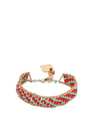 Rosantica By Michela Panero Striped Beaded Bracelet Red