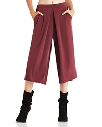 Bcbgeneration Pleated Gaucho Pants Deep Maroon