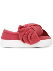 Joshua Sanders Oversized Bow Sneakers Pink And Purple