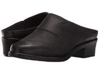 Walking Cradles Caden Black Distressed Leather Women's Clog Shoes
