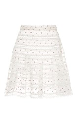 Zimmermann Mischief Rosebud Printed Mini Skirt White