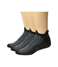 Wrightsock Endurance Double Tab 3 Pack Black Crew Cut Socks Shoes
