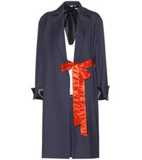 Marni Wool Coat And Top Blue