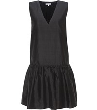 Ganni Ima Silk Dress Black