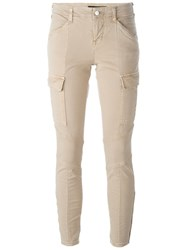 J Brand Mid Rise Skinny Trousers Nude And Neutrals