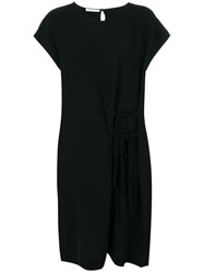 Societe Anonyme Big Shoulders Dress Polyester Black